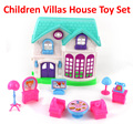 Новые Пластиковые головоломки Полный комплект мебели Модель строительство Обучающие Игрушки Кукольный дом/играть дома кухня игрушки для детей