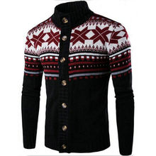 Winter Mens Sweaters Cardigan Knitwear Fashion National Wind Hit Color Design Men's Casual Knitting Sweaters Tops Coats MC02