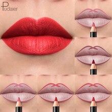 лучшая цена Pudaier 12Pcs/lot Long-lasting Lip Liner Matte Lip Pencil Waterproof Moisturizing Lipsticks Beauty Makeup Tools Lipliner Pencil