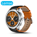 LEMSE New Top Rated Smart Watch Android 5.1 MTK6580 1.3G Quad Core Round Face IPS OLED Display 1GB+8GB Smartwatch Phone