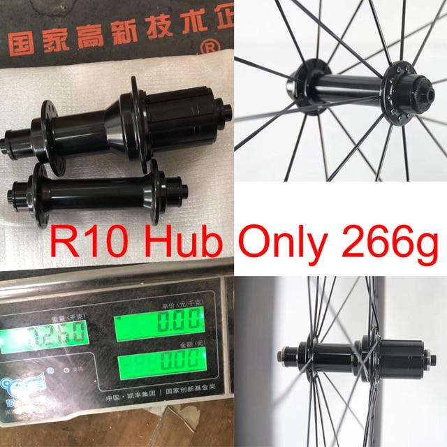 Bujes súper ligeros para bicicleta de carretera, solo 266 g/set, Kingkong R10, buje de bicicleta incluye pincho, reemplazo de 20/24 orificios, cubo R13