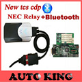 Best Quality japan Nec Relay Green PCB board v8.0 TCS CDP+ Pro with Bluetooth cars & Trucks Diagnostic tool 2015.1 software dvd