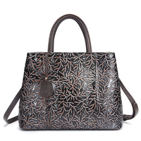 Yaodeniso New Designer Women Genuine Leather Bag Female Luxury Handbag Vintage Handmade WOMEN Shoulder Bags With