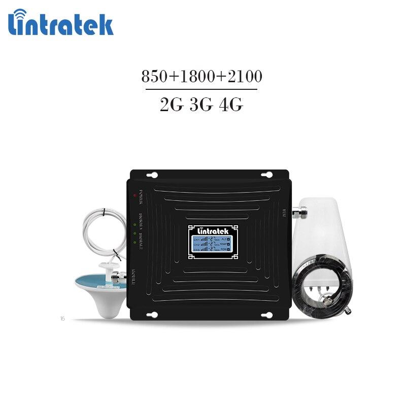 Lintratek tri-bande répétiteur 850 mhz CDMA 1800 2100 2G 3G 4G répéteur GSM UMTS LTE 1800 4G booster amplificateur de signal mobile #5