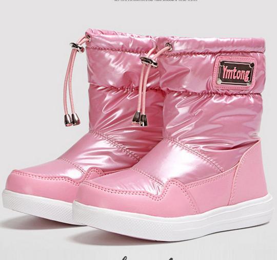 children snow boots fur winter girls women flat Thicken Shoes For baby Kids child snow brand fashion boots infantil 283