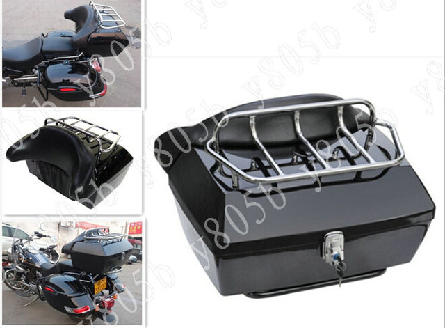 Trunk Tail Box Luggage With Top Rack Backrest For Motorcycle
