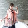 180*90 cm 2016 de La Marca de Moda Bufanda de Seda larga de Las Mujeres calientes bufanda de gran tamaño rose Femme Fulares Chales y Bufandas Del Cabo Pashmina