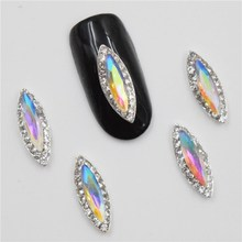 10psc New COLOR Rhinestones 3D Nail Art Decorations,Alloy Nail Charms,Nails Rhinestones Nail Supplies #622-629(China)