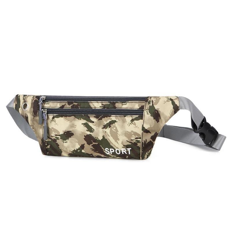 Men Women Nylon Sport Waist Pouch Phone Bags Riding Running Waist Sports Pack Cycling Bag Belt Outdoor Travel Hiking Bag Bolsas