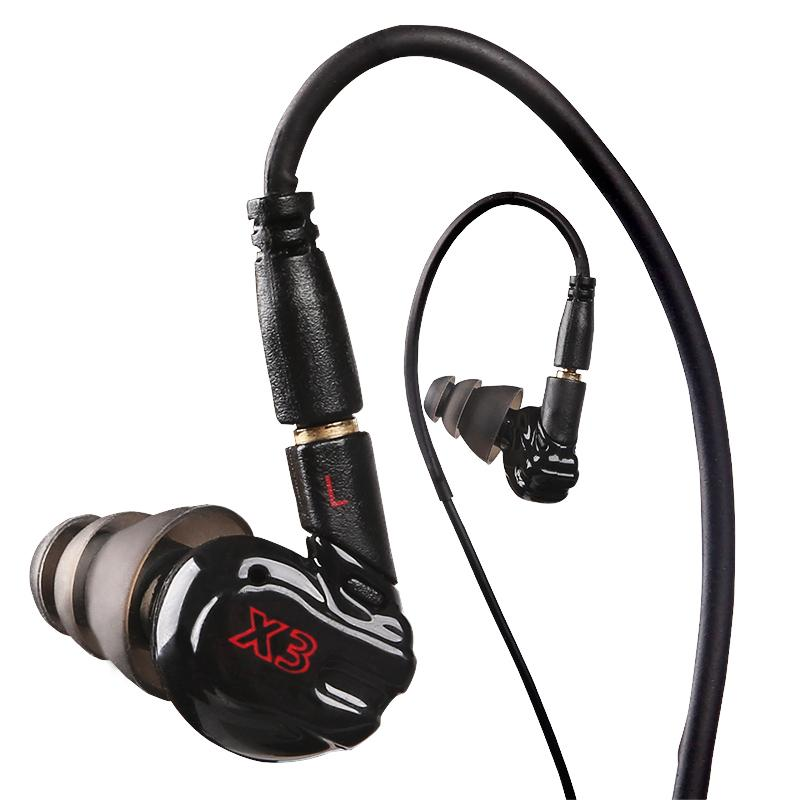 HOT Genuine Moxpad X3 In-Ear Headphones Running Sports Earphone with Microphone In Ear Earphone Sound Isolating Headset VS SE215