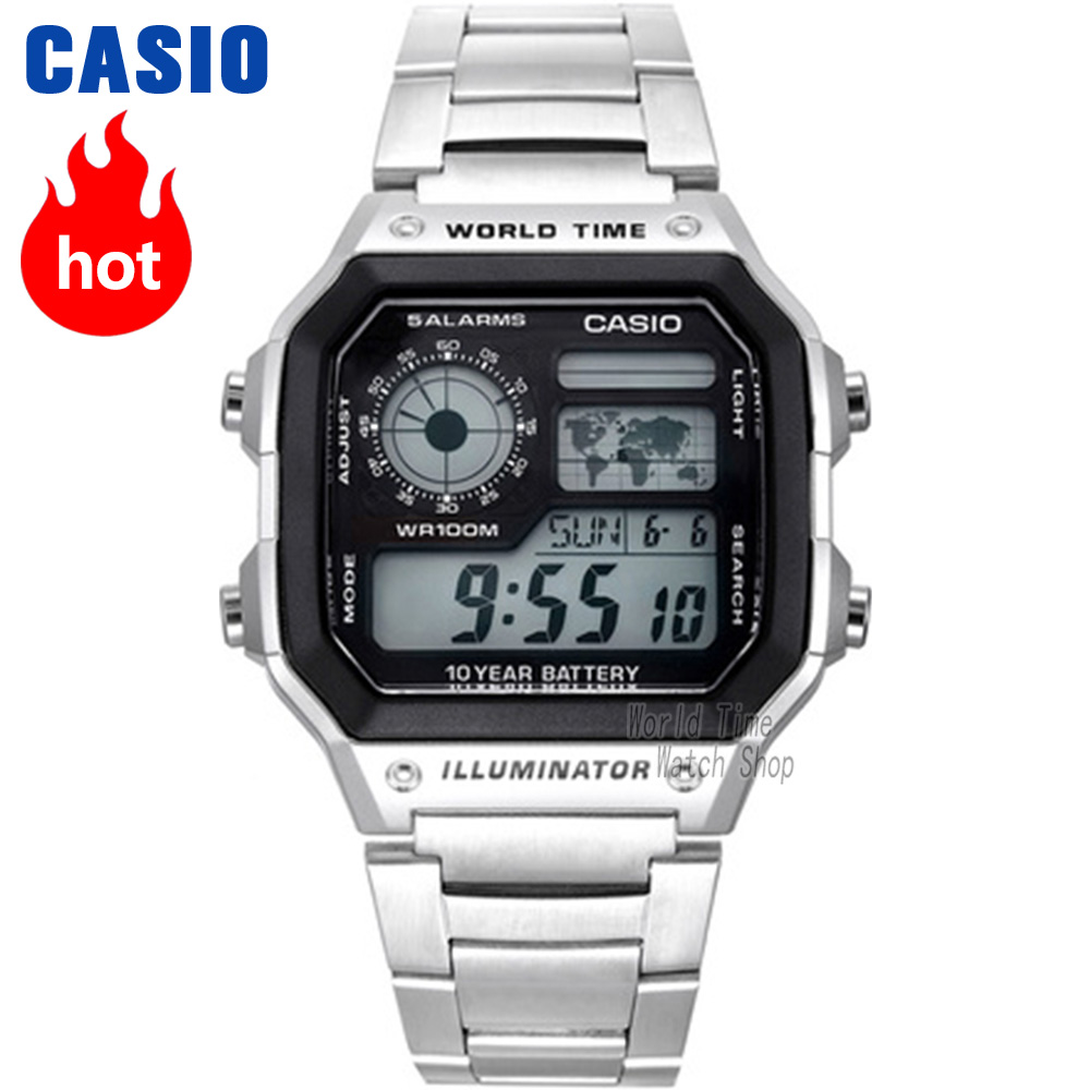 Casio watch Analogue Men's Quartz Sports Watch Fashion Steel Strap Resin Strap Retro Square Watch AE-1200WH AE-1300WH все цены