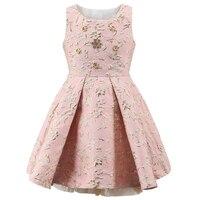 Fashion Design Girls Dresses Bronzing Floral Princess Dresses For Girls Kids Party Weeding Dress Children Ball
