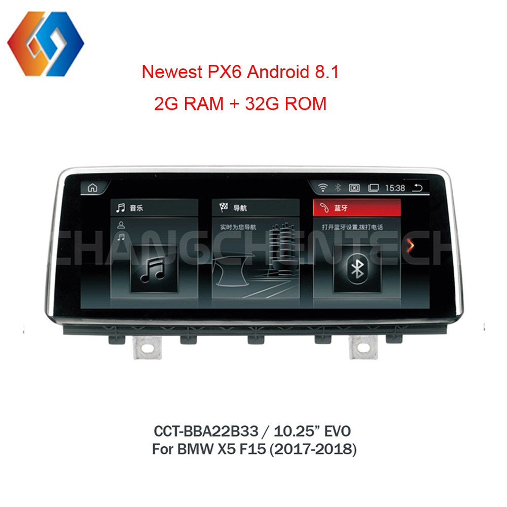Android 8.1 Car Multimedia for BMW X5 F15 EVO System Upgraded GPS Navigation Bigger Touch Screen Support WiFi Phone Mirror USB33