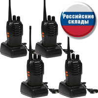 2 PCS 4 PCS Baofeng BF-888S Walkie Talkie Handheld Pofung 888s UHF 5W 400-470MHz 16CH Two Way Portable Scan Monitor Ham CB Radio