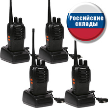 4 pcs Baofeng BF-888s UHF 400-470MHz 5W 16CH DCS/CTCSS Two-way Ham Hand-held Radio Walkie Talkie + Free Earpieces wecan kc m3 ultra thin ultra clear 400 470mhz 20 channel walkie talkie silver blue 2 pcs