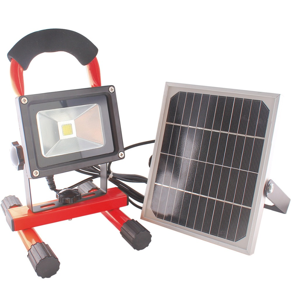 Outdoor Lights Portable: MUMENG LED Solar Floodlight 10W Solar Rechargeable Outdoor