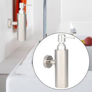 Image 2 - الفولاذ المقاوم للصدأ اليد السائل غسول الصابون المطهر زجاجة مضخة للمنزل الحمام الحائط السائل الصابون Dispensador المنظم