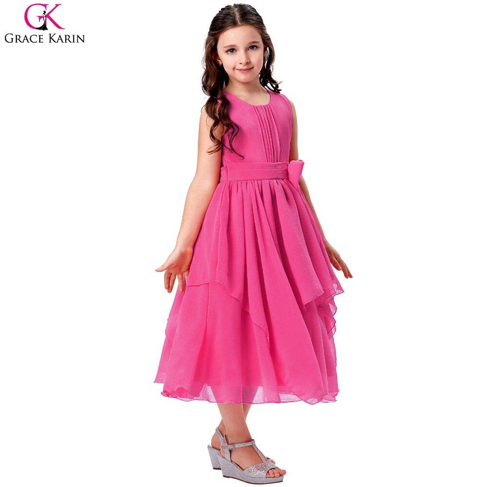 Grace karin vestidos de niña con volantes partido prom princesa ...