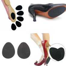 1 Pair Anti-Slip Self-Adhesive Shoes Mat High Heel Sole Protector Cushion Non Slip Insole Forefoot High Heels Sticker(China)