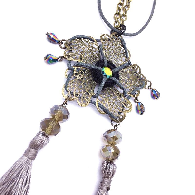 b636bebaaab9d8 BOYULIGE Women Boho Bead Crystal Ethnictassel Pendant Necklace Long Leather  Rope Chain Clothing Jewelry Accessories Punk Power-in Pendants from Jewelry  ...