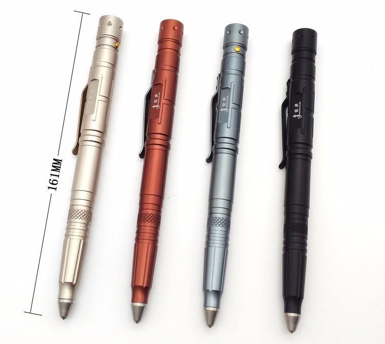 OGECCO utdoor Self Defense Tactical Pen Multi Tool Tungsten Unisex Steel Glass Knife Capacitance Pen Defence with LED light (9)
