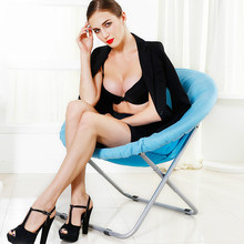 Simple modern fashion high quality  small sofa chair computer folding chair  large bearing capacity  free shipping