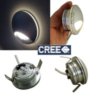 Diffused Step Light LED Frosted Acrylic Recessed Wall Lamp Stair Lighting 1W Cree 4pcs Per Lot