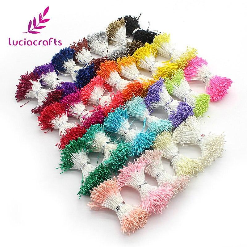 Lucia ремесла 576 шт. мм 1 мм разноцветный цветок тычинки цветочные украшения торта Двойные головки DIY ручной работы материалы 11010105 (576)