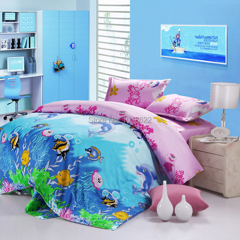 Baby Bedding Cartoon Images 100 Cotton Queen Size 4pcs