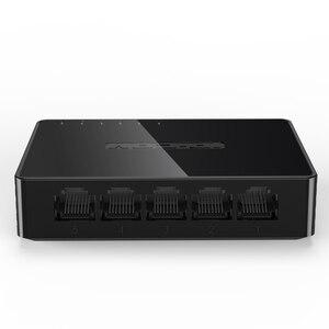 Image 4 - ミニ 5 ポートギガビットイーサネットスイッチ 5 ポート 10/100/1000Mbps デスクトップネットワークスイッチ Lan ハブ小さなとスマートオート Mdi/MDIX