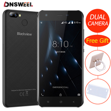 Blackview A7 Pro Smartphone Android 7.0 MTK6737 Quad core 5.0inch HD 4G Mobile phone 2GB+16GB Dual Rear Camera GPS Fingerprint