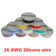 50m 26 AWG Flexible Silicone Wire 5 Colors RC Cable Line With Spool Package 1 / Package 2 Tinned Copper Wire Electrical Wire юбка topshop topshop to029ewghsb9
