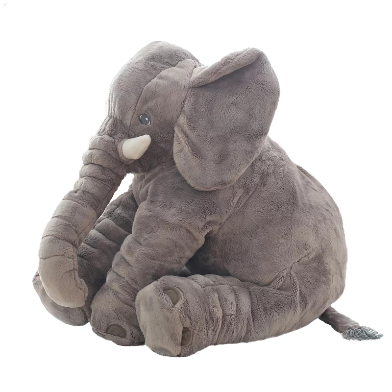 Hot 55cm Colorful Giant Elephant Stuffed Animal Pillow Plush Kids Toy Animal Shape Pillow Baby Toys