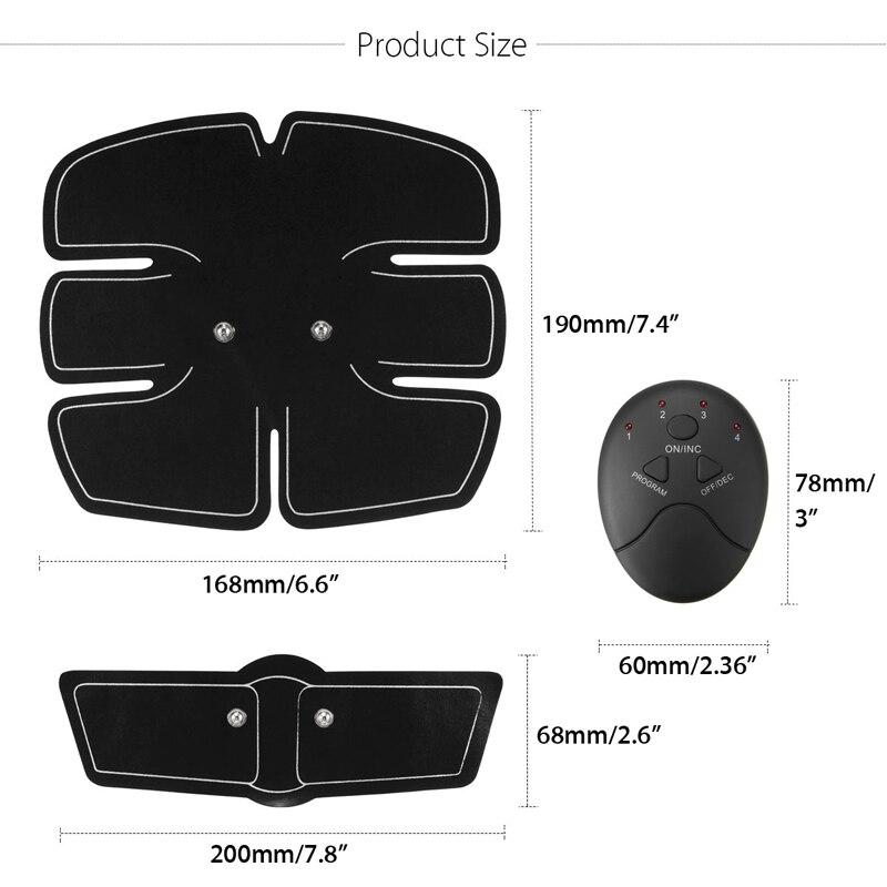 Image 5 - EMS Wireless Muscle Stimulator Smart Fitness Abdominal Training Electric Weight Loss Stickers Body Slimming Belt UnisexAbdominal Massage Instrument   -