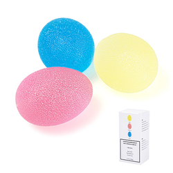 Grip strengthening therapy stress balls 3 colors resistance squeeze eggs home exercise kits hand exercise balls.jpg 250x250