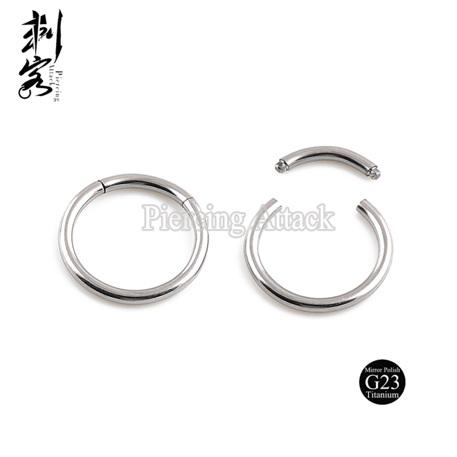 Highly Polished G23 Titanium Body Jewelry 16 Gauge Titanium Segment Captive  Ring(china (mainland