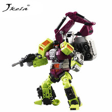 [Yamala] New Transformation Robot Toys Ko Version Gt Scraper Forklift excavator Action Figures Robot Toys For Children Gift [yamala] in stock transformation robot ko version gt scraper of devastator right thigh action figure model toys outdoor beach