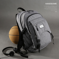 Man Outdoor Sports Basketball Backpack Multifunction Ball Pack Canvas Men USB Backpack Sports Bags for Teenager Ball Laptop Bags