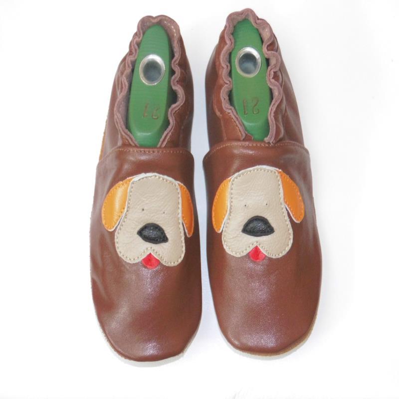 Гарантированная детская обувь из натуральной кожи на мягкой подошве - Цвет: Шоколад
