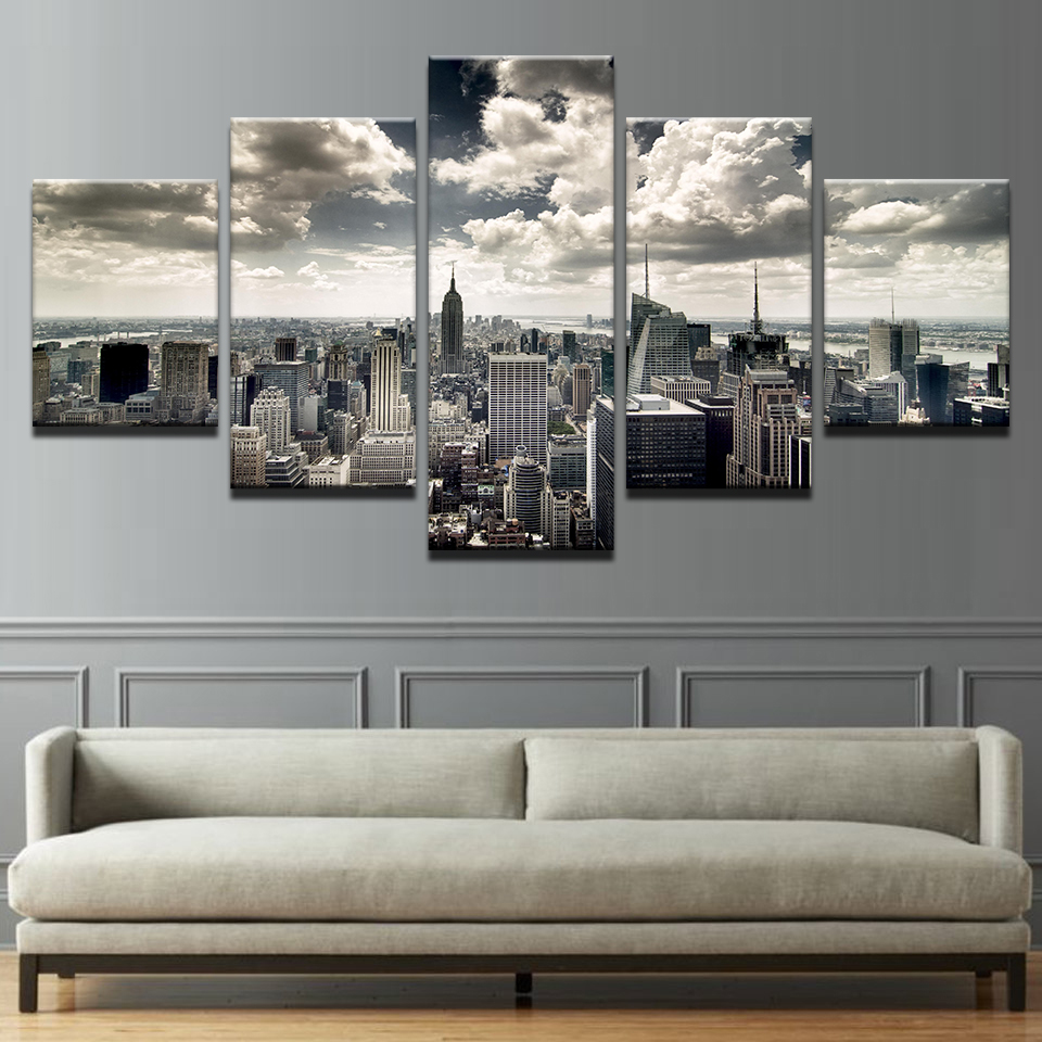 Canvas Wall Art Hd Prints Pictures Living Room 5 Pieces New York