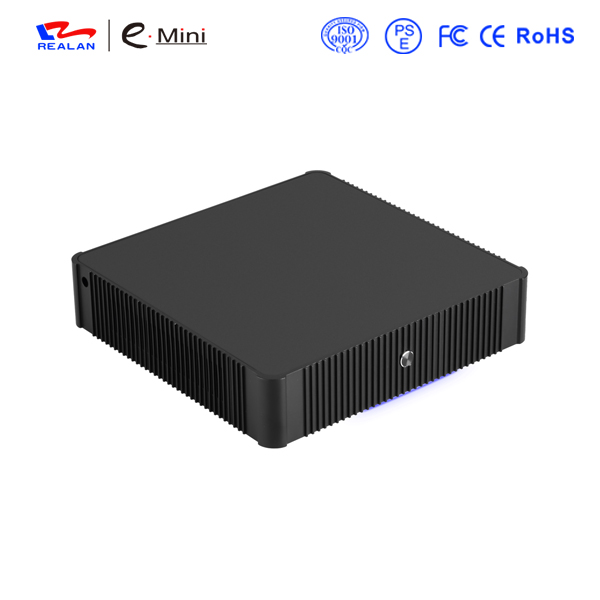 Mini PC Dual Nic 4xCOM Fanless Celeron j1900 Win7 / Linux / Windows Desktop Plāns klients Mikrodators HDMI + VGA