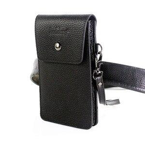 Image 1 - Кожаный чехол из натуральной воловьей кожи с ремнем для сотового телефона 5,0/5,5/6,3/6,4/7 дюймов, кожаный чехол для iphone, карман для хранения денег и карт
