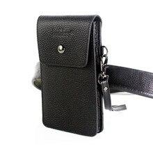 אמיתי עור פרה לובש טלפון סלולרי חגורת כיס 5.0/5.5/6.3/6.4/7 inch עור מקרה עבור iphone עור פאוץ כסף כרטיס אחסון