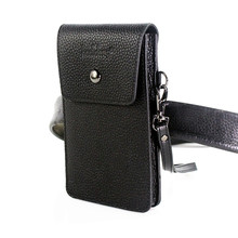 Real cowhide wearing belt cell phone pocket 5.0/5.5/6.3/6.4/7 inch Leather case For iphone Leather pouch money card Storage
