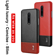Imak Oneplus 7 Pro Leather Back Cover Oneplus7 Pro Concise Back Case on Oneplus 7 1+ 7 Business Hard Shell Phone Accessories