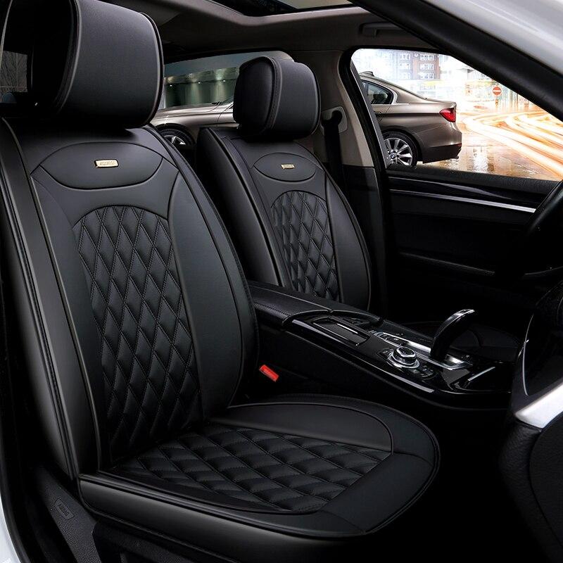 Housses de siège auto universelles en cuir pour auto Skoda Octavia 2 a7 a5 Fabia superbe Rapid Yeti super accessoires auto-style
