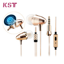 Gold Bullet HIFI Earphones Super  Metal Monitor Earphones In-Ear Headset With Without Microphone For Phone Xiaomi