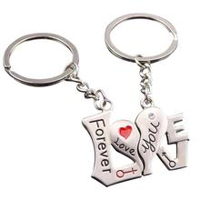 Couple Keychains New Fashion Heart Forever Love Keyrings For Women Men Wedding Party Key Chain Jewelry Gifts C5