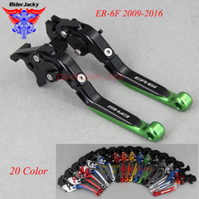цены на CNC Extendable Foldable Motorcycle brake Clutch Levers For Kawasaki ER-6F ER6F 2009-2016 ER6 F 2015 2014 2013 2012 2011 2010  в интернет-магазинах