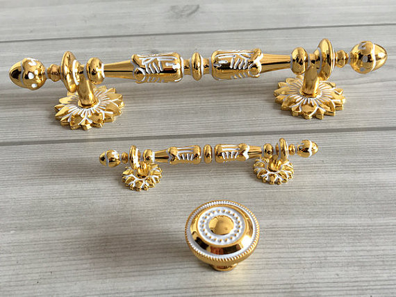 2.5 5 Drawer Knob Pull Handles Kitchen Cabinet Handle Knobs Pulls Dresser Pull Handles Knobs Furniture Door Pull White Gold 3 75 5 porcelain kitchen cabinet door knobs handle drawer pulls handles knobs white gold knob pull furniture hardware 96 128